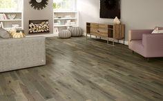 not the décor, just the floor--nice. Hardwood flooring Preverco - - Hard Maple, PreOil, Nougat