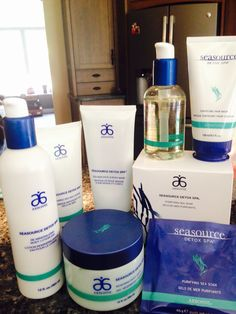 This is one of my favourite Arbonne lines the Sea Source Detox Spa! So many uses! The 5 in 1 massage oil can be combined with any line of moisturizer, add it to the body gelee and apply it to your temples for cooling down from heat I find it helps have a very restful sleep! Sea Mud Face and body mask helps with purify your skin and helps with black heads no matter how severe, purifying sea soak great for detoxing our bodies and scented with lavender essential oils!