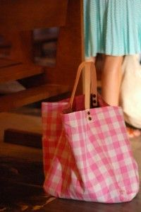 Pink gingham for a bag.