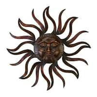 Large Metal Sun Wall Decor Round Rustic Art Indoor Outdoor Sculpture Decoration for sale online Metal Sun Wall Art, Metal Wall Sculpture, Wall Sculptures, Metal Walls, Outdoor Sculpture, Sculpture Art, Metal Artwork, Sun Wall Decor, Rustic Wall Decor
