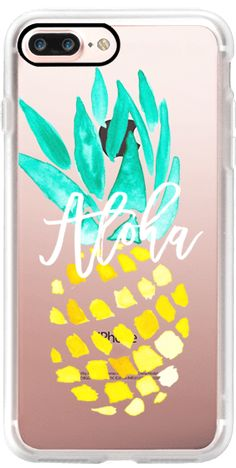 Casetify iPhone 7 Plus Case and other Tropical iPhone Covers - Mordern Yellow Turquois Watercolor by Girly Trend | Casetify