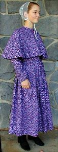 Here's an Old Order German Baptist Brethren style dress. Purists will note distinctions from the Mennonites and Amish.