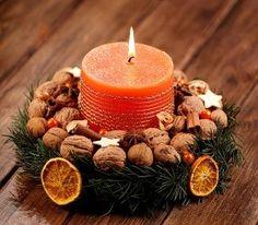 Stroik Boże Narodzenie II - średnica ok. 22 cm Scandi Christmas, Burlap Christmas, Christmas Candles, Christmas Projects, Simple Christmas, Christmas Wreaths, Christmas Decorations, Christmas Ornaments, Fun Diy Crafts