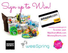 weeSpring Munchkin gift basket giveaway! I got there through MommyShorts, and free stuff is always good. Except germs. They tend to be free, and they are rarely good.