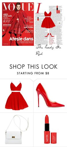 """""""The Lady In Red"""" by midnightkitten on Polyvore featuring Jimmy Choo, Chanel and Deborah Lippmann"""