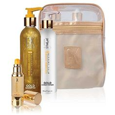 GKhair Global Keratin Gold Line Gift Set Shampoo Conditioner Serum * You can get more details by clicking on the image.