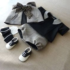 Awwww! Love this vintage outfit for the baby boy! BBK Creations.