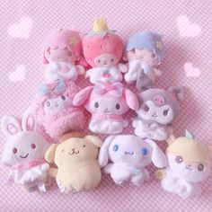 Kawaii Chibi, Kawaii Cute, Softies, Plushies, Hello Kitty, Kawaii Room, My Melody, Daddy Rules, Pink Aesthetic