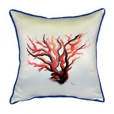 Garden Red Coral Decorative Pillow These versatile pillows are equ...