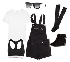 """""""Halsey concert inspired outfit"""" by mmxiiuke ❤ liked on Polyvore featuring Yves Saint Laurent, H&M, Aéropostale, Calvin Klein, Ray-Ban and halsey"""