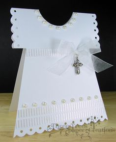 Three Trees {paper} Creations: Baby Baptism Dress: