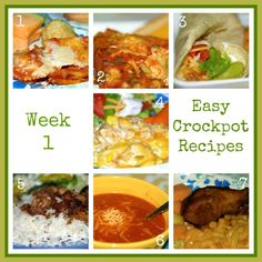 Easy Recipes: Week One of Crockpot Meals