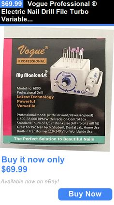 Manicure Pedicure Tools and Kits: Vogue Professional ® Electric Nail Drill File Turbo Variable Speed Easy To Use BUY IT NOW ONLY: $69.99