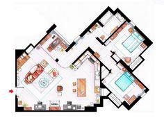 Фотография:  в стиле , Советы, гостиная в американском стиле, квартира как у Кэрри, Квартира как у Моники, Квартира как у Шелдона Купера – фото на InMyRoom.ru