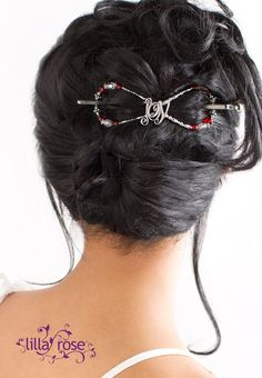 Lovely up-do perfect for holiday parties! #joy #tistheseason