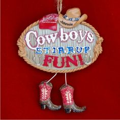 Cowboy Up Personalized Christmas Ornament