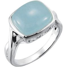 Sterling Silver 12x10mm Genuine Milky Aquamarine Ring #marchbirthstone #aquamarine Locate a jeweler here: www.stuller.com/locateajeweler/