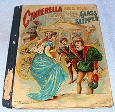 Antique Vintage Cinderella and the Glass Slipper Donohue Ca 1895