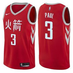 a15c09e8 Houston Rockets Luc Mbah a Moute Red Nike NBA Men's Stitched Swingman  Jersey City Edition