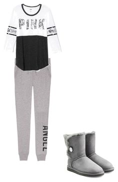 Cool day by fashionbabeforever on Polyvore featuring Victoria's Secret and UGG Australia