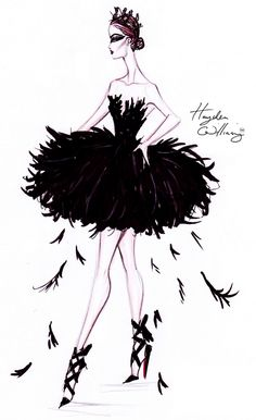 Hayden Williams Fashion Illustrations: Costume Couture by Hayden Williams: The Black Swan
