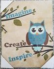 "♡‡ Imagine #Create #Inspire  Owl  Canvas Wall Art Picture  #Home decor   14""... Ends http://ebay.to/2uILcgN"
