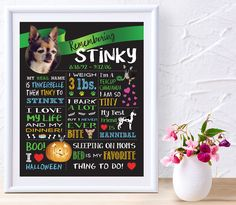 Daisy Dog Design Studio makes all sorts of different chalkboard designs. They are a great way to memorialize your special pet and their unique personalities.