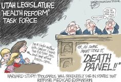 Bagley cartoon: Utah's Death Panel | The Salt Lake Tribune