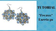 """Tutorial: come realizzare un paio di orecchini """"Frozen"""" con superduo e c..."""