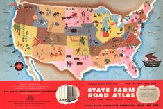 great old State Farm road atlas illustration