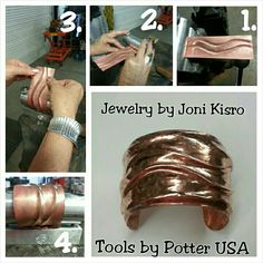 This bracelet is made by using the Deluxe Bracelet Bender kit by Potter USA.  www.potterusa.com