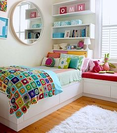wall storage and headboard storage ideas for kids rooms