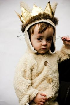 Baby MAX in  rustic sherpa  costume  Inspired by Where the Wild Things Are - hand sewn by a professional designer, one at a time in the USA by TheRadicalThreadCo on Etsy https://www.etsy.com/listing/205497080/baby-max-in-rustic-sherpa-costume