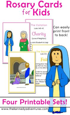 printable rosary cards perfect for saying a family rosary - Printable Kids