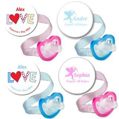 Baby's going to LOVE these Paci Clip Combos! Personalized with Name.
