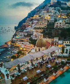 Beautiful sunset at amalfi coast #Italy