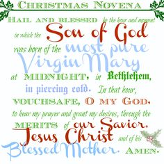 Andrew Christmas Novena // Carrots for Michaelmas- Say this from the first Sunday of Advent until Christmas.