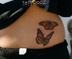 A small butterfly tattoo can represent many things like freedom, beauty and love. Check out this collection of 22 Awesome Small Butterfly Tattoo designs. Butterfly Tattoo Cover Up, Butterfly Tattoo Meaning, Butterfly Tattoo On Shoulder, Butterfly Tattoos For Women, Butterfly Tattoo Designs, Trendy Tattoos, Cute Tattoos, Beautiful Tattoos, Body Art Tattoos