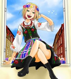 Hetalia_Poland. I'm kinda jealous : I'm a girl and skirts suit him better than they do (or ever did) me -_-'