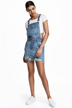 Dungaree dress - Denim blue - Ladies | H&M GB