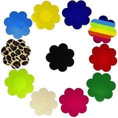 1df4fc38c0fcc YPS Multi Design Nipple Cover Satin Pasties Disposable Adhesive Breast  Petals Satin