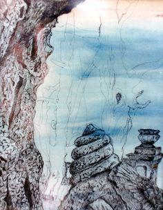 Bajka, tuš-akvarel 20x25