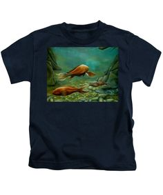 Purchase a juvenile t-shirt featuring the image of Silent Wisdom by Faye Anastasopoulou.  Available in sizes 2T - 4T.  Each juvenile t-shirt is printed on-demand, ships within 1 - 2 business days, and comes with a 30-day money-back guarantee,   kids', apparel, casual, outfit, wear, clothing, summer, blouse, designed, artistic, unique, fish, green, blue, unisex