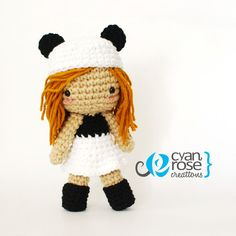 Panda Inspired Crochet Amigurumi Plush Doll