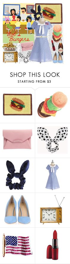 """Bob's burgers"" by fashionistajane1 ❤ liked on Polyvore featuring Brooks Brothers, Kikkerland, Givenchy, Forever 21, Topshop, Giuseppe Zanotti, Retrò, MAC Cosmetics, burgers and bobsburgers"