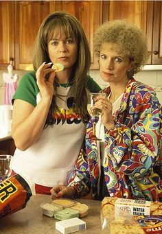 Jane Turner and Gina Riley: Kath and Kim Kim Tv, Aussie Memes, Old Shows, Summer Aesthetic, New Series, Best Shows Ever, Funny People, Female Characters, Aussies