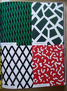 Memphis patterns by Sottsass and Radl