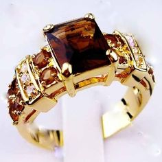 Tanzania 10KT yellow Gold Filled Ring sz. 6 -10. Starting at $12 on Tophatter.com!
