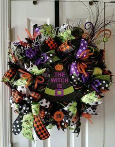 Halloween+Wreath+by+KarieLynnDesigns+on+Etsy