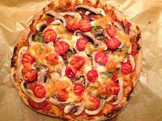 A legjobb teljes kiőrlésű pizza: egyszerre ropogós és puha I Am Always Hungry, Vegetable Pizza, Mozzarella, Vegan Recipes, Clean Eating, Food Porn, Vegetables, Healthy, Cookies